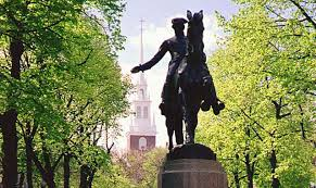 Paul Revere statue before Old North Church