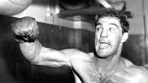Rocky Marciano on Speed Bag