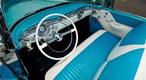 Interior of 1955 Oldsmobile 88