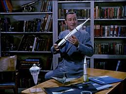Walt Diney With Rocket Model
